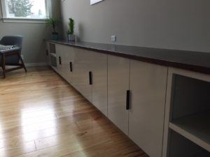 custom finish wood cabinets