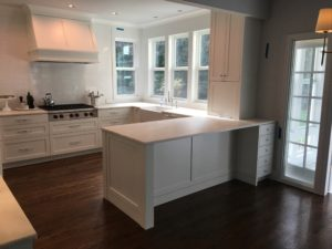 white finish cabinets
